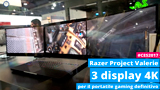 Razer Project Valerie: il portatile gaming con 3 display 4K